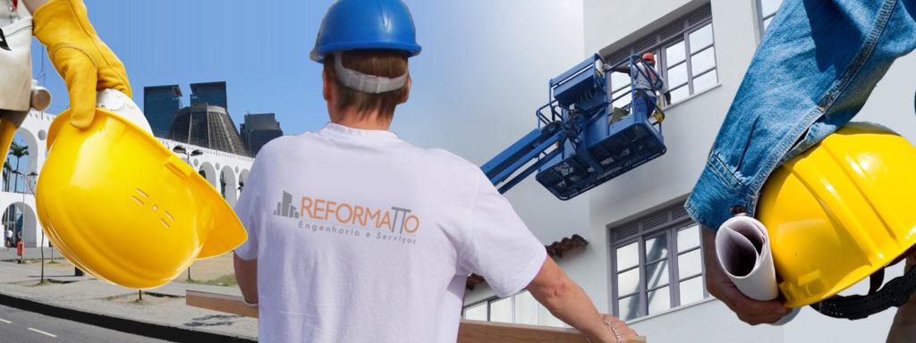 Reforma de fachada de galpão no rj
